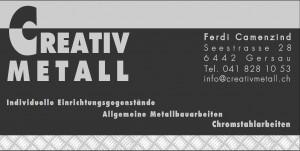 Logo Creativ Metall Bandenwerbung